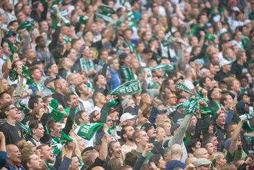 Soccer derby between AIK and Hammarby in Allsvenskan at...