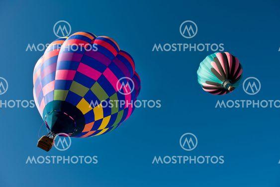 Hot Air Balloon At Gallup,New Mexico.