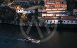 Top view of Ribeira at Douro river.