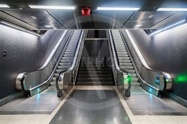 Rulltrappor på station Stockholm City