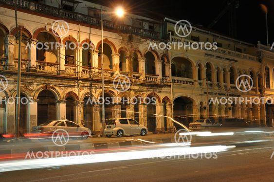 Gamla brittiska rådets byggnad vid Georgtown Penang