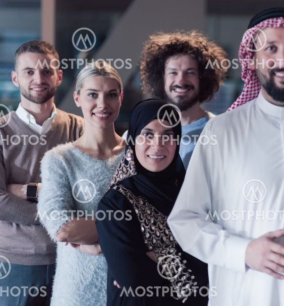 Portrait of multiracial diverse group of businesspeople...