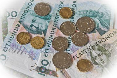 Blandade kontanter svensk valuta