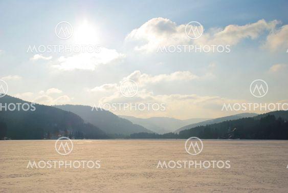 Frozen Titisee Lake, Schwarzwald