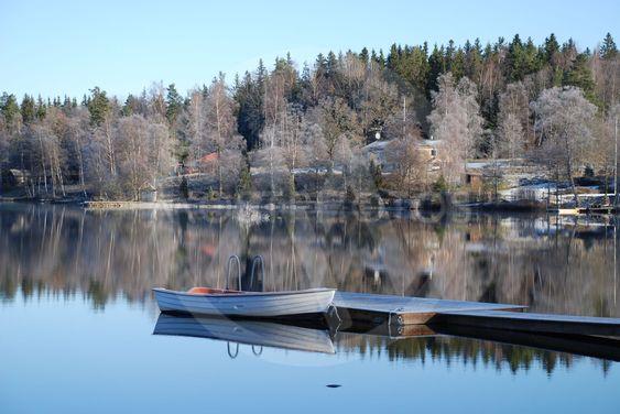 Frostig dag vid Sjunnarydssjön i Småland 4  (Sweden)