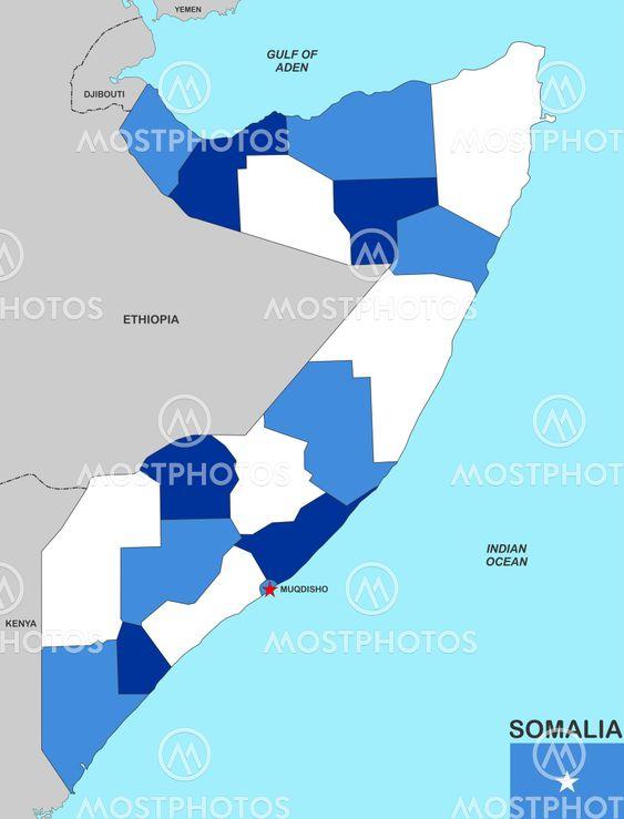 Somalia Kort Fra Tudor Antonel Adrian Mostphotos
