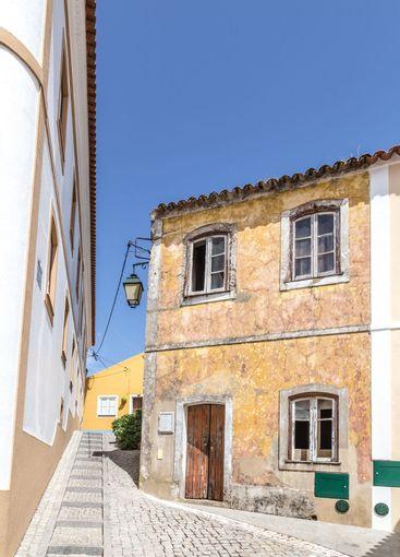 Street view Monchique village Algarve in Portugal