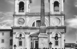 Church of Trinita dei Monti, iconic landmark in Rome, Italy