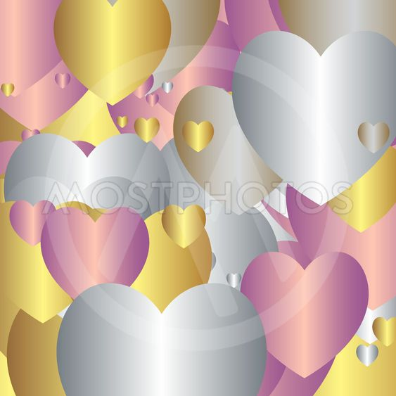 , Decorative background with hearts