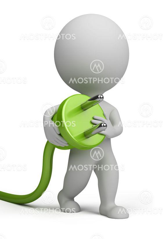 3d small people - plug