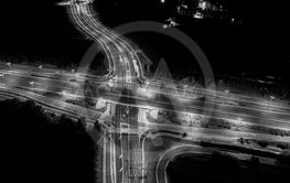 Aerial view of a Unique City Roads and Interchanges,...