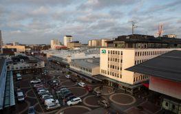 Utsikt över Vällingby centrum, Sverige.