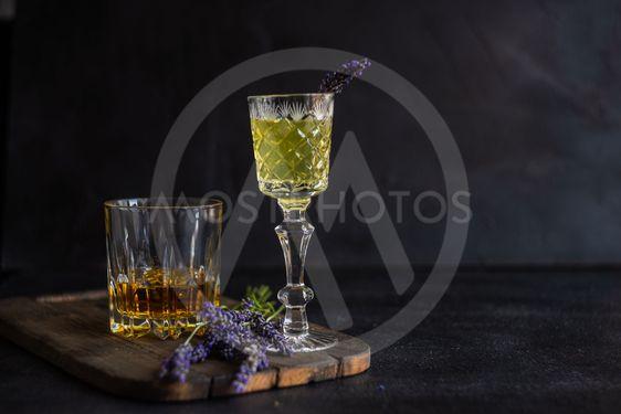 Traditional italian alcoho drink limoncello
