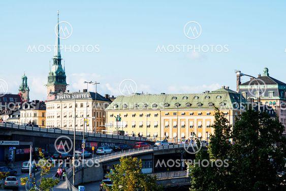 morgonrusning en vanlig dag i Stockholm