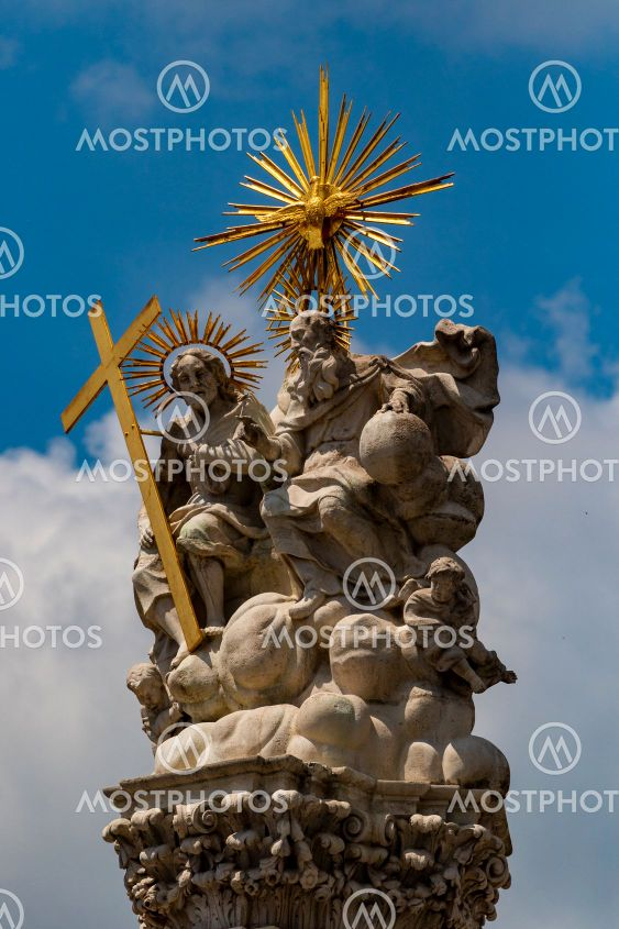 Saint Trinity  statue in Castle District. - Budapest