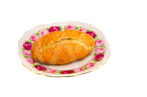 Karaite pastry stuffed with chop lamb decor dish