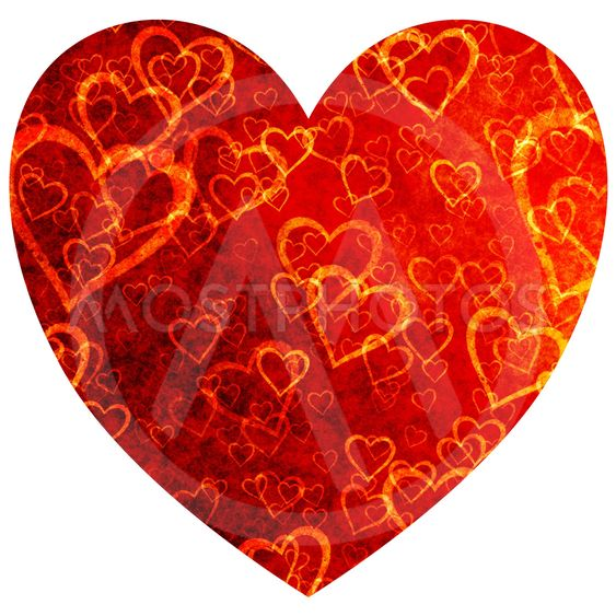 Decorative heart for decorations of love, Valentine's day, packaging, prints, fabrics.