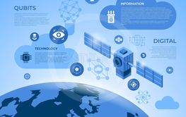 Quantum internet technology icons