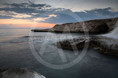Idyllic dramatic Sunset in the ocean