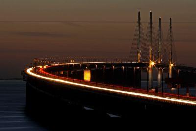 Bridge in evening