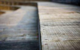 Old wooden floor path