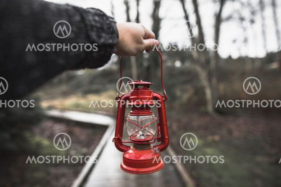 crop hand with lantern. High quality and resolution...