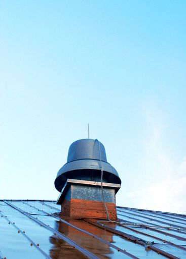 Exhaust Bell on tin roof