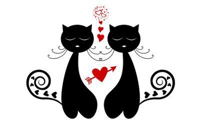 Love Cat Silhouette