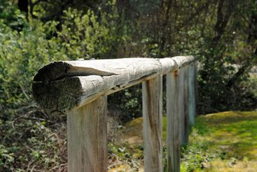 Old Western Horse Hitching Post