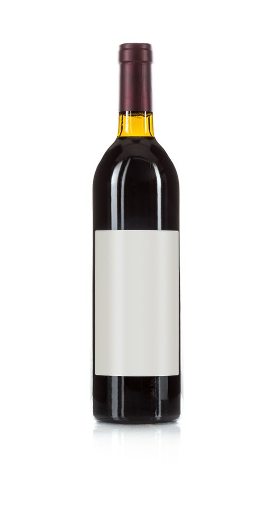 Wine Bottle with Dark Colored Wine and Blank Wine Label