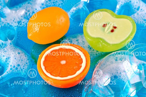 Fruit Soaps in Bubbles