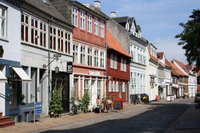 Old town of Odense Denmark - Street Nedergade
