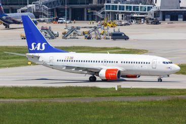 SAS Scandinavian Airlines Boeing 737 airplane Stuttgart...