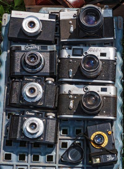 The old ussr cameras set.