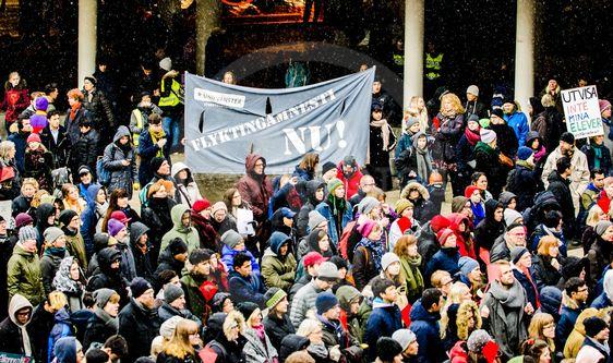 Demonstrationer pa sergels torg