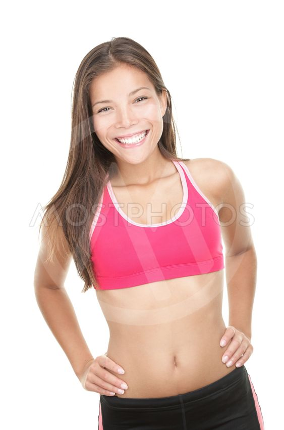 Happy fitness woman portrait