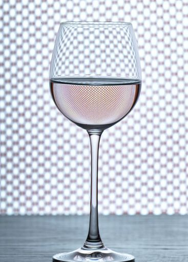 wine glass and grid