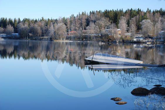 Frostig dag vid Sjunnarydssjön i Småland 2 (Sweden)