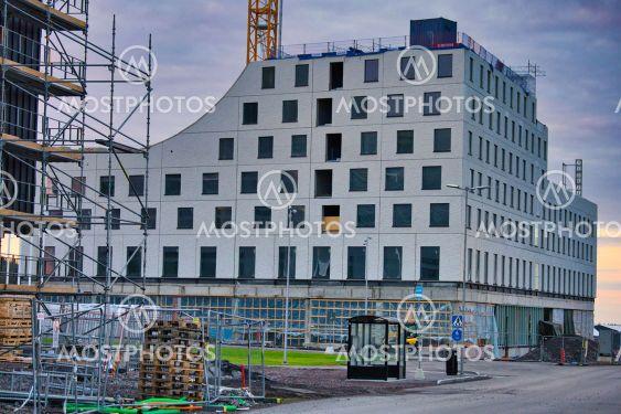 Hotell som byggs i nya Kirunas centrum