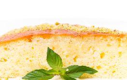 Sweet lemon pie with pistachios.