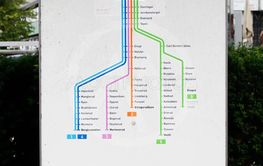 Eastbound Oslo metro lines
