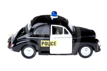 toy police car on white