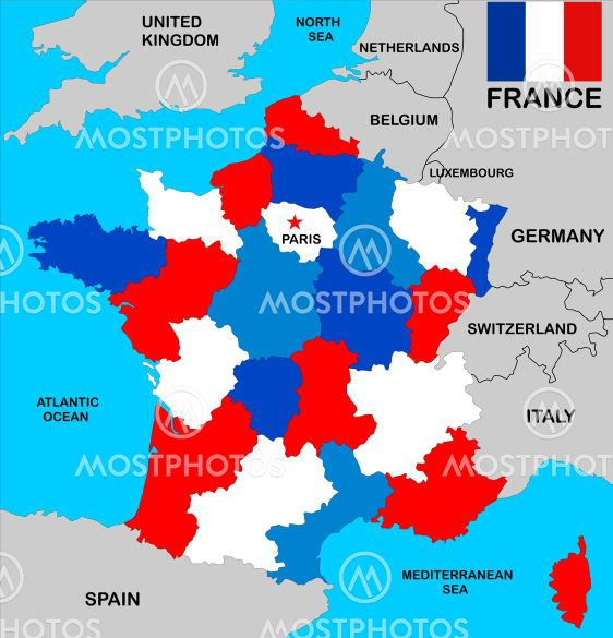 Tudor Antonel Adrian N Kuva Ranskan Kartta Mostphotos