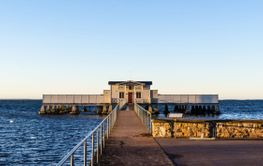 Kallbadhuset i Borgholm på Öland
