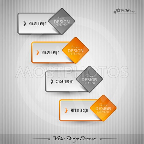 Business stickers on the gray background for infographics...