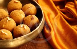 Traditional Indian Round Ball Shaped Sweet Made from...