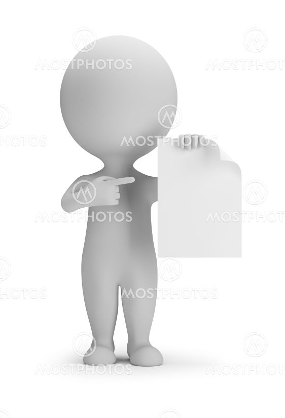 3d small people - indicates a blank sheet
