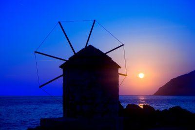 Greece,cyclades,amorgos : mill: