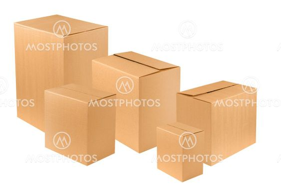 New cardboard boxes