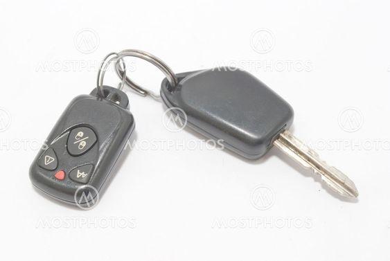bil nyckel med larm